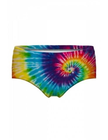 Elastic Waist Tie Dye Print Underwear Shorts