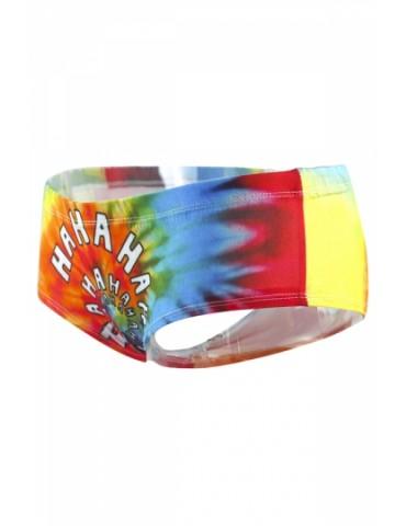 Elastic Waist Tie Dye Underwear Shorts Tangerine