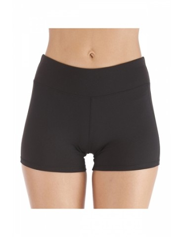 Elastic Bodycon Plain Running Workout Shorts Black