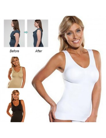 Cami Shaper by Genie Bra Vest Body Shapers Underwear Slimming Corsets Shapewear