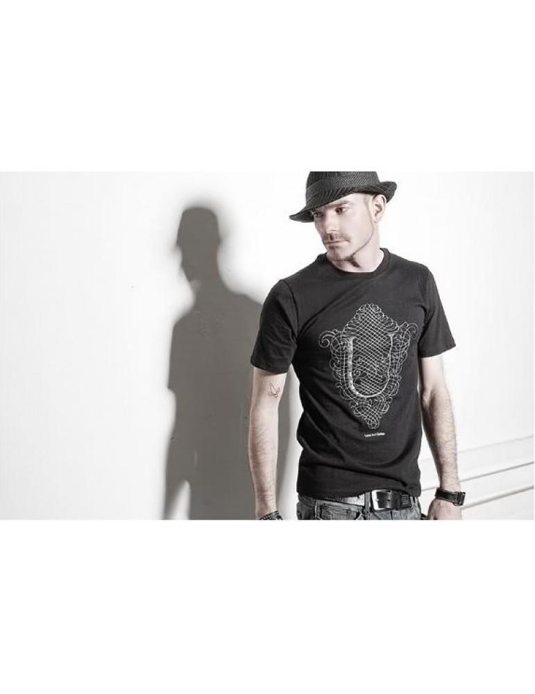 2013 Summer Casual Men's T-shirt O-neck T Shirt Print Short Sleeves Tshirt Tee Black