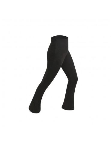 CK2218 Women Sports Fitness Yoga Pants Dance Practice Micro Horn Trousers Size 2XL - Black