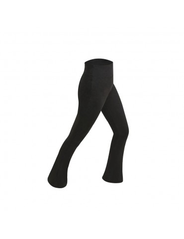 CK2218 Women Sports Fitness Yoga Pants Dance Practice Micro Horn Trousers Size M - Black
