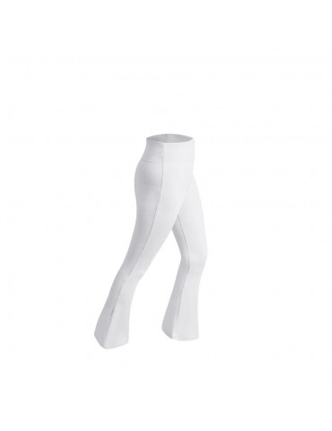 CK2218 Women Sports Fitness Yoga Pants Dance Practice Micro Horn Trousers Size M - White