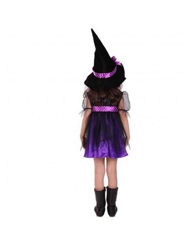 Halloween Costume Party Girls Cosplay Costume Dress Children's Dress Smock 140cm - Purple
